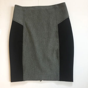 Express Colorblock Pencil Skirt with a back zipper